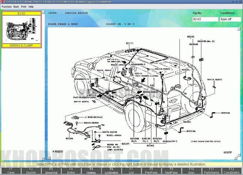 لیست شماره فنی تویوتا - Toyota Part Number برنامه شماره فنی قطعات تویوتا نرم افزار Toyota EPC Toyota Lexus EPC full ed all regions