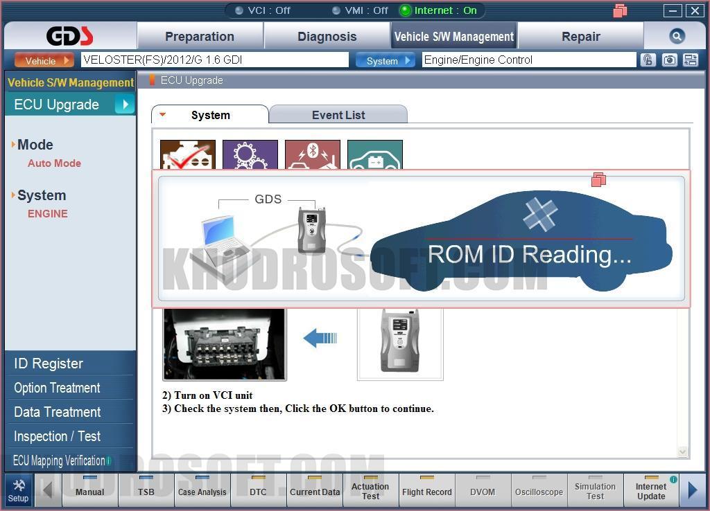 نرم افزار عیب یابی خودروهای کیا - Kia GDS نرم افزار gds kia نرم افزار GDS Kia GDS03
