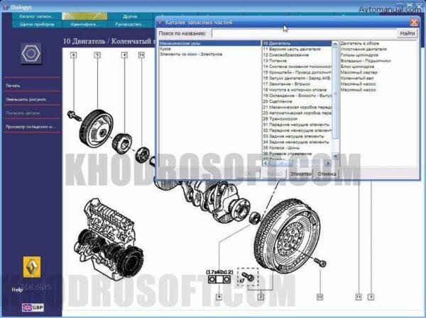 رنو دیالوجیز - کاتالوگ شماره فنی و راهنمای تعمیرات رنو