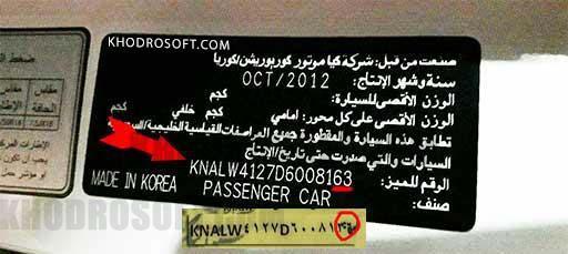 KIA VIN شماره شناسایی خودرو VIN یا شماره شناسایی خودرو ( شماره شاسی ) چیست ؟ Vin kia org