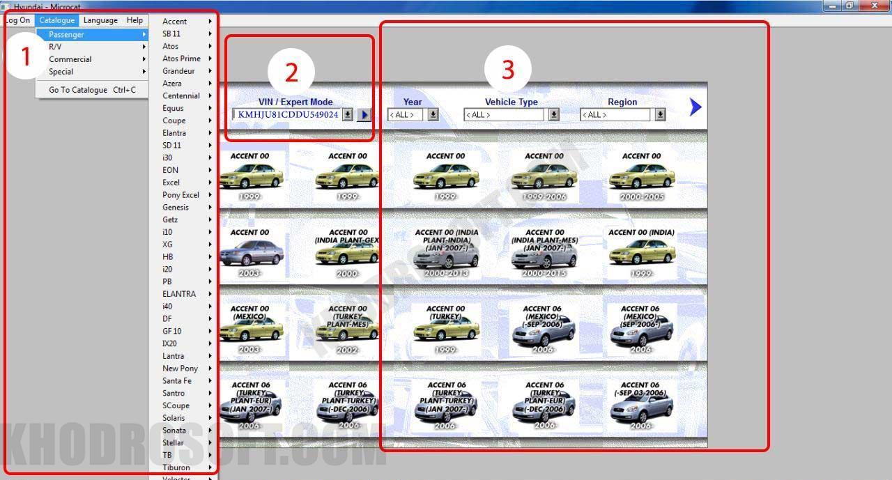 مایکروکت - انتخاب خودرو راهنمای کار با نرم افزار مایکروکت راهنمای تصویری کار با نرم افزار مایکروکت microcat first page 1