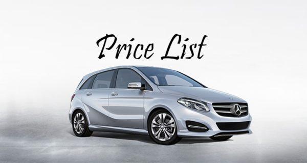 لیست قیمت قطعات بنز Benz Price list