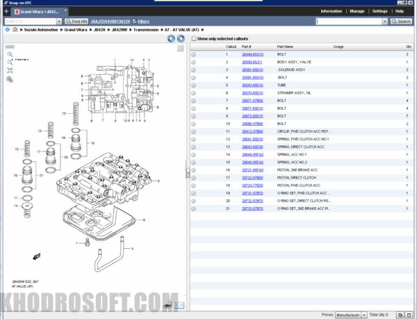 برنامه شماره فنی سوزوکی - Suzuki EPC