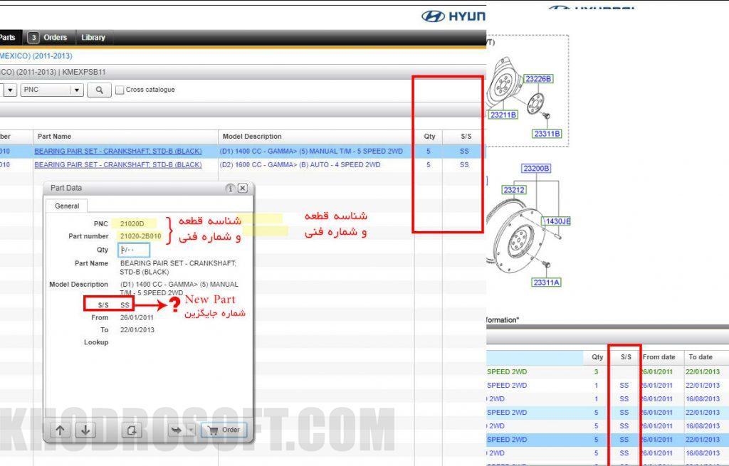 شماره فنی جایگزین یا ریپلیس - microcat New part Replace
