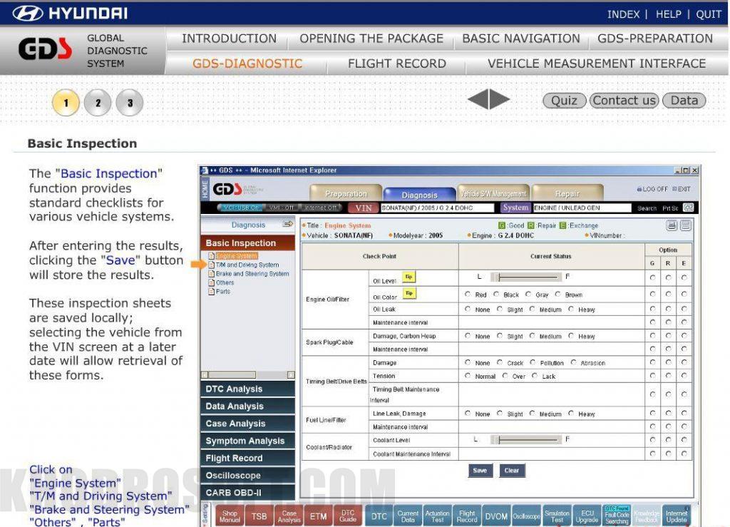 راهنمای استفاده از دستگاه دیاگ جی دی اس دیاگ gds دیاگ GDS – دیاگ جی دی اس – دیاگ هیوندای و کیا 22 Sep 28 Hyundai Global Diagnostic System Training 2 1024x739