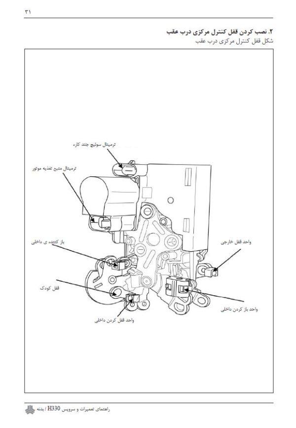 راهنمای تعمیرات و سرویس بدنه برلیانس H330