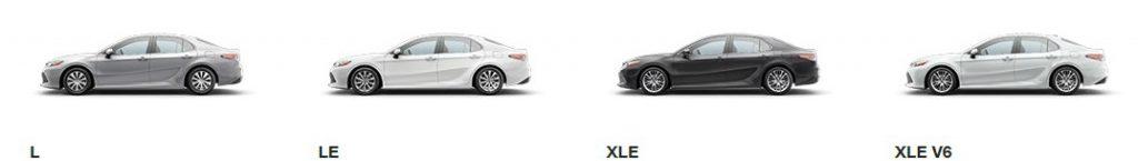 تیپ خودرو چیست تیپ خودرو یا تریم چیست و شامل چه چیزهاییست ؟ Camry trims L XLEV6 o 1024x145