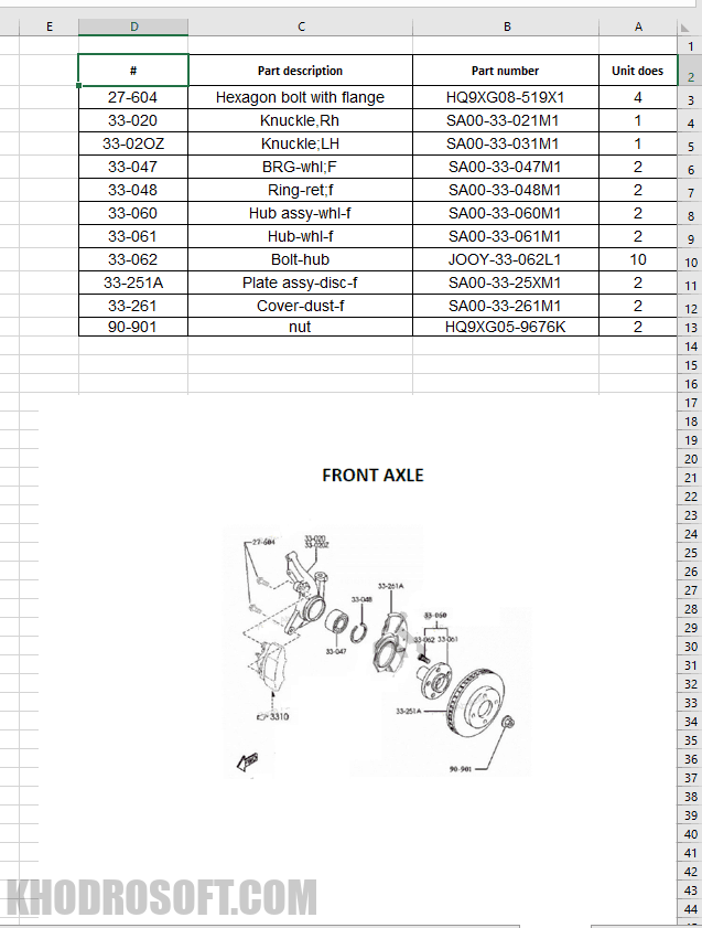 لیست اکسل پارت نامبر قطعات هایما s7 خودرهای های چینی کاتالوگ شماره فنی قطعات هایما S7 – Haima S7                                                             s7