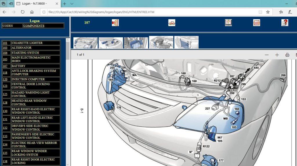 نقشه و شماتیک مدارهای برق و الکتریک تندر90 ال90 لوگان tondar90 l90 logan wiring diagrams