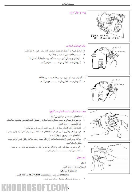 راهنمای کامل تعمیرات و نقشه های برق نیسان پیکاپ زبان فارسی