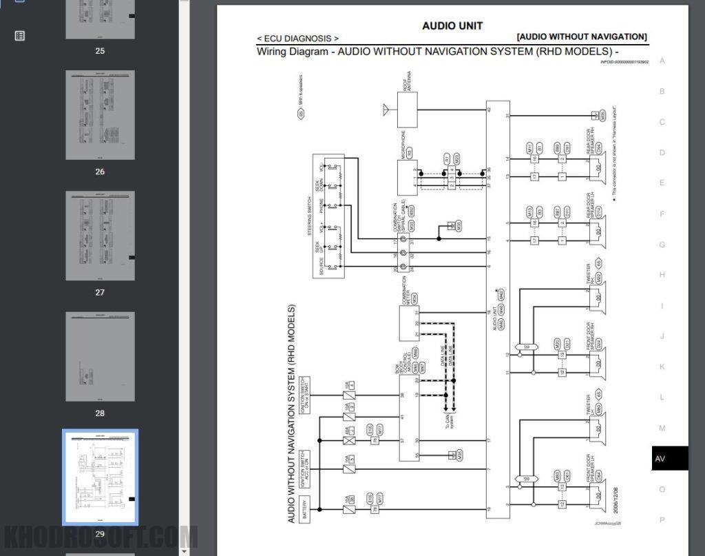 کتاب کامل راهنمای تعمیرات و عیب یابی نیسان قشقایی | همراه نقشه های سیم کشی برق nissan qashqai j10 p32l workshop manuals full