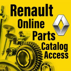 اکانت رسمی کاتالوگ آنلاین شماره فنی قطعات یدکی و لوازم جانبی رنو - renault online parts catalog access