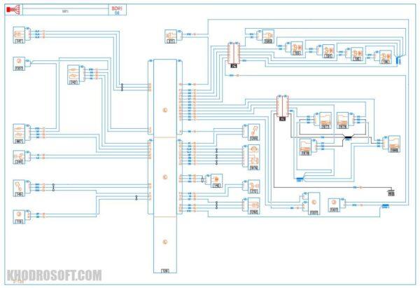 نقشه های برق سیستم سوخت رسانی الکترونیکی قسمت موتور رنو اسکالا